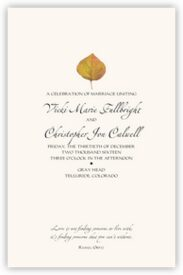 Yellow Aspen Leaves Autumn/Fall Leaves Wedding Programs