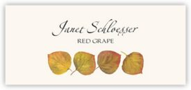 Yellow Aspen Leaves Autumn/Fall Leaves Place Cards