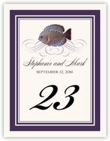Blue Fish Superswirl Tropical, Freshwater and Saltwater Fish Table Numbers