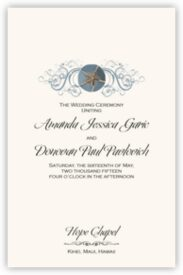 Blue Sand Dollar Beach and Seashell Wedding Programs