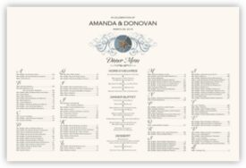 Blue Sand Dollar Beach and Seashell Wedding Seating Charts