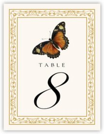 Monarch Butterfly Birds and Butterflies Table Numbers