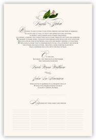 Calla Lily Swirl 02 Flower Wedding Certificates