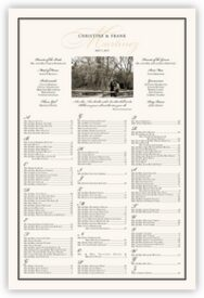 Charming Romantic Photo Wedding Seating Poster
