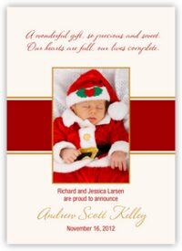 Christmas Gift Birth Announcements