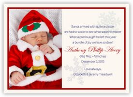 First Christmas Birth Announcements
