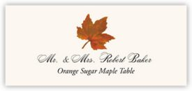 Orange Sugar Maple Colorful Leaf Autumn/Fall Leaves Place Cards