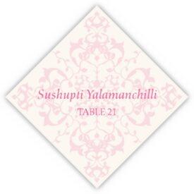 Diamond Mandala Contemporary and Classic Place Cards
