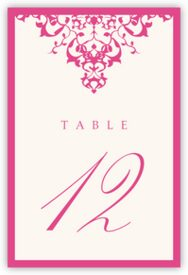 Diamond Mandala Contemporary and Classic Table Numbers