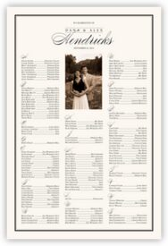 Forever Summer Photo Wedding Seating Poster