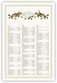 Genesis and Eden Birds Bird Theme Wedding Seating Chart