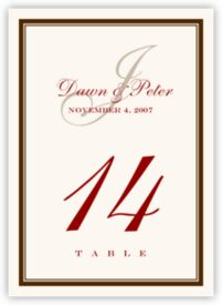 Bracha Contemporary and Classic Table Numbers