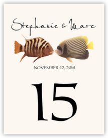 Kissing Fish Tropical, Freshwater and Saltwater Fish Table Numbers