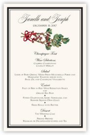 Mistletoe Winter, Snowflake, and Holiday Menus
