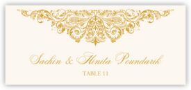 Paisley Power Indian/Hindu Inspired Wedding Place Cards