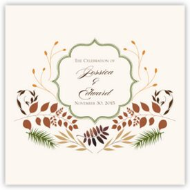Peaceful Autumn 04 Autumn/Fall Leaves Wedding Programs