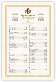Seahorse Pattern Beach and Seashell Wedding Seating Charts