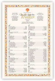 Seashell Border Beach and Seashell Wedding Seating Charts
