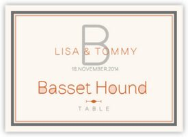 Brownstone Monogram 15 Contemporary and Classic Table Names