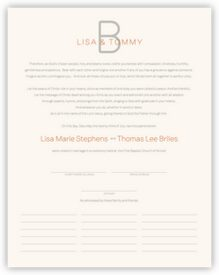 Brownstone Monogram 15 Contemporary and Classic Wedding Certificates