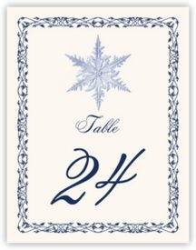 Snowflake 06 Winter, Snowflake, and Holiday Table Numbers