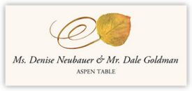 Aspen Swirly Leaf Autumn/Fall Leaves Place Cards