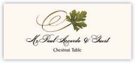 Chestnut Swirly Leaf Autumn/Fall Leaves Place Cards