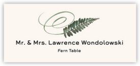 Fern Swirly Leaf Autumn/Fall Leaves Place Cards