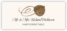 Hawthorne Swirly Leaf Autumn/Fall Leaves Place Cards