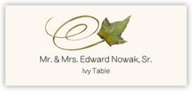Ivy Swirly Leaf Autumn/Fall Leaves Place Cards
