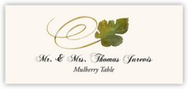 Mulberry Swirly Leaf Autumn/Fall Leaves Place Cards