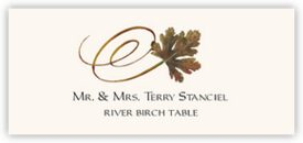 River Birch Swirly Leaf Autumn/Fall Leaves Place Cards