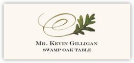Swamp Oak Swirly Leaf Autumn/Fall Leaves Place Cards