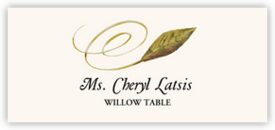 Willow Swirly Leaf Autumn/Fall Leaves Place Cards