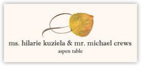 Aspen Twisty Leaf Autumn/Fall Leaves Place Cards