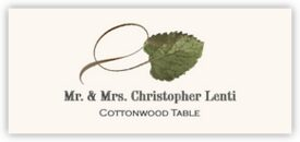 Cottonwood Twisty Leaf Autumn/Fall Leaves Place Cards