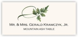Mountain Ash Twisty Leaf Autumn/Fall Leaves Place Cards