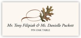 Pin Oak Twisty Leaf Autumn/Fall Leaves Place Cards
