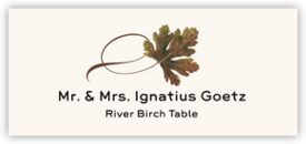 River Birch Twisty Leaf Autumn/Fall Leaves Place Cards
