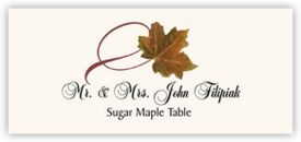 Sugar Maple Twisty Leaf Autumn/Fall Leaves Place Cards