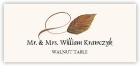 Walnut Twisty Leaf Autumn/Fall Leaves Place Cards