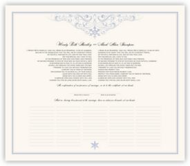Vintage Snowflake Twist Winter and Snowflake Wedding Certificates