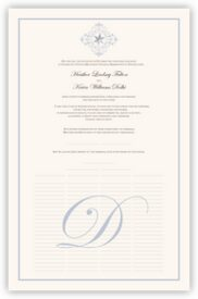 Vintage Spiral Snowflake Winter and Snowflake Wedding Certificates