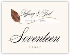 Ironwood Wispy Leaf Autumn and Fall Leaves Table Numbers