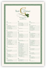 Wispy Shamrock Celtic Wedding Seating Charts