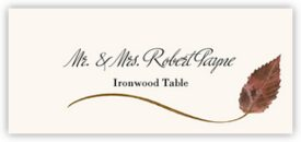 Ironwood Wispy Leaf Autumn/Fall Leaves Place Cards
