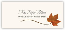 Orange Sugar Maple Wispy Leaf Autumn/Fall Leaves Place Cards