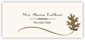 Pin Oak Wispy Leaf Autumn/Fall Leaves Place Cards