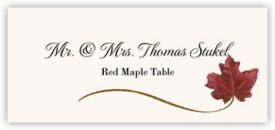 Red Maple Wispy Leaf Autumn/Fall Leaves Place Cards