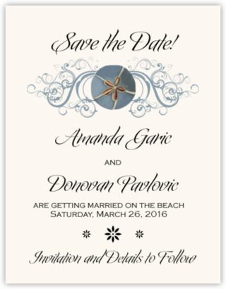 Blue Sand Dollar Save the Dates
